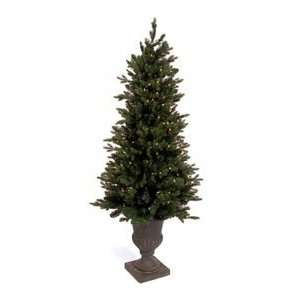 Pine White Lights Pre lit Christmas Tree Black Urn Home & Kitchen