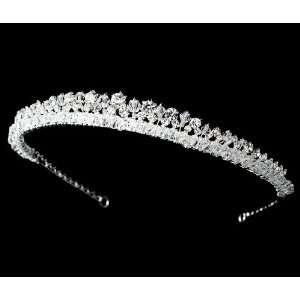 Silver Plated Swarovski Rhinestone Bridal Headband   HP 8405 Beauty