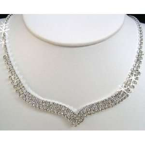 Crystal Necklace Set for Bridal Wedding Prom Pageant N1X47
