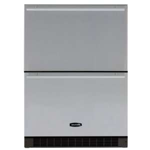 Refrigerated Drawers Black Cabinet Stainless Steel Front: Appliances