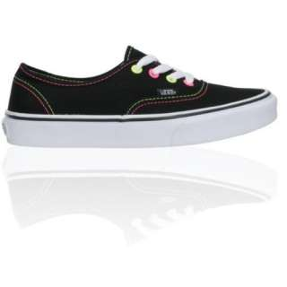 Vans Girls Era Neon Black, Pink & Yellow Canvas Skate Shoe Shoes