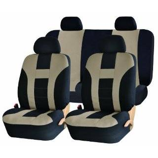 Car Seat Covers Set with Steering Wheel Cover and Shoulder Pads