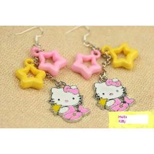Hello Kitty Enamel Charm Earrings