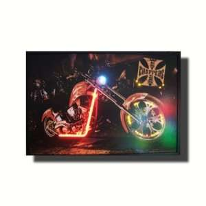 Neonetics West Coast Choppers Bike Lighted Poster West Coast Choppers