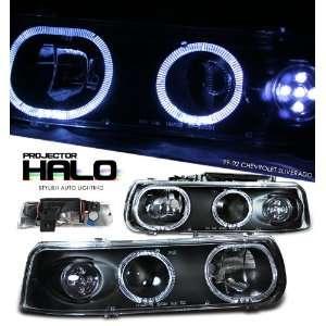 Chevy Silverado Pu Black Led W/Halo Headlight Projector Performance