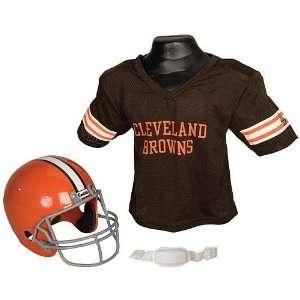 Franklin Cleveland Browns Boys Helmet & Jersey Set One