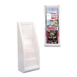 Four Pocket Plastic Desktop or Wall Mount Literature Display Rack