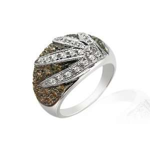 9ct White Gold 1ct Diamond Cluster Ring Size 7.5 Jewelry
