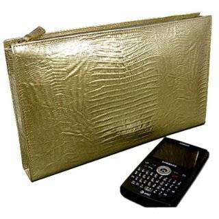 Kai Womens Gold Italian Leather Embossed Lizard Clutch by Kena Kai
