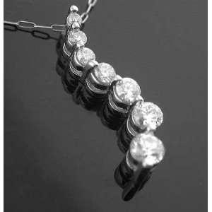 Ct Journey Pendant Round Diamond 14 Karat White Gold  Jewerly at
