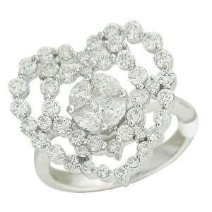Heart Diamond White Gold Ring Jewelry