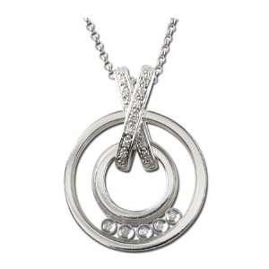 14K White Gold Diamond Necklace (G I color) Jewelry