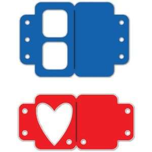 Sizzix Originals Large Die  Heart Tabs Office Products