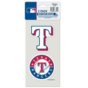 Texas Rangers Die Cut Decal Set Of Two 4x4 Everything