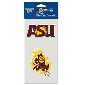 Arizona State Sun Devils Set of 2 Die Cut Decals  Sports