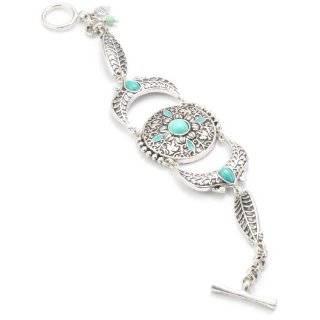 Lucky Brand Silver Tone Green Double Drop Earrings Jewelry