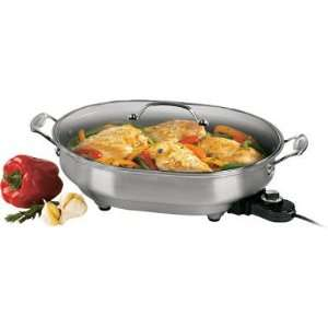 Stainless Steel Classic Electric Skillet:  Kitchen & Dining