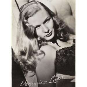 Veronica Lake (Constance Ockleman) American Film Actress Stretched
