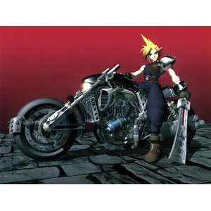 Final Fantasy VII Cloud & Hardy Daytona Original Video Game Design