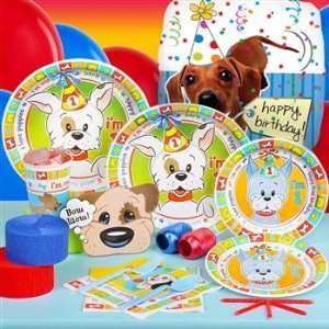 I Love Puppies 1st Birthday Standard Party Pack for 8