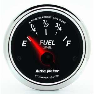 Auto Meter 1206 Designer Black II 2 1/16 Short Sweep Electric Fuel