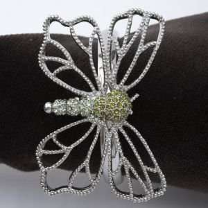 Lobjet Platinum And Gold Napkin Rings Platinum Butterfly