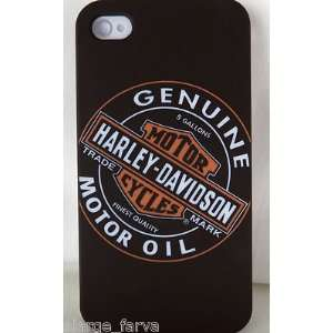 Harley Davidson Motor Oil Snap On Cover For iPhone 4 4S