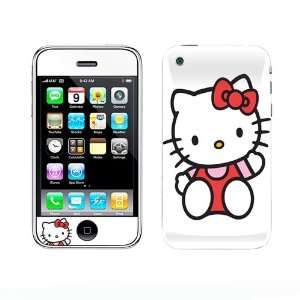 Hello Kitty Vinyl Adhesive Decal Skin for iPhone 3G Cell Phones