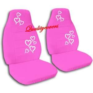 Hot Pink seat covers with Hearts for a 2006 to 2012 Chevy Impala