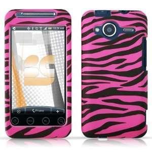 Zebra Stripes (Hot Pink/Black) Protector Case for HTC EVO