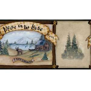 Country Lodge Wallpaper Border CN1144bd: Home Improvement