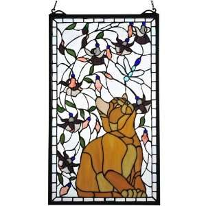 Tiffany Tiffany Floral Animals Insects Window  74186: Home & Kitchen