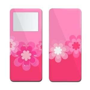 Retro Pink Flowers   Apple iPod nano 1G (1st Generation