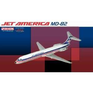 Jet X 1400 Jet America MD 82 Die Cast Model Airplane