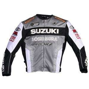 Joe Rocket Suzuki Mesh Replica Jacket   Small/Gunmetal/White/Black