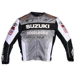 Joe Rocket Suzuki Mesh Replica Jacket   Small/Gunmetal/White/Black