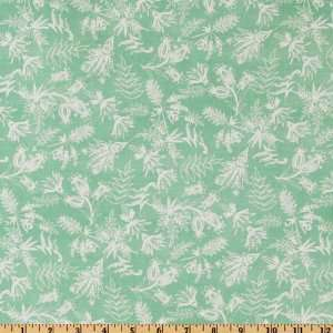 44 Wide Love & Kisses Abstract Paisley & Foliage Mint Fabric By The