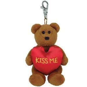 Beanie Baby   KISS ME the Bear ( Metal Key Clip ) Toys & Games