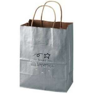 Kraft Paper Gift Bag   You Make the Difference Silver