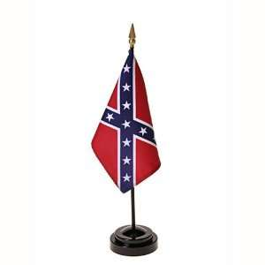 Jack Confederate Flag 4X6 Inch Mounted E Gloss: Patio, Lawn & Garden