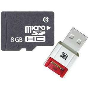 Memory Card with SD Adapter and R10W Micro USB Flash Card Reader