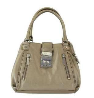 Michael Kors Jenna Medium Satchel Tote Bronze Handbag