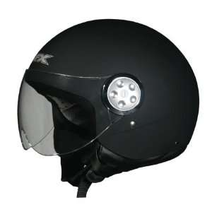 AFX FX 42 Pilot Soild Open Face Helmet Small  Black