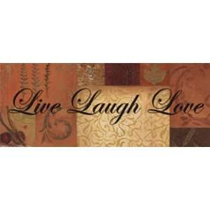 WTLB PatchworkLive Laugh Love by Smith Haynes 20x8