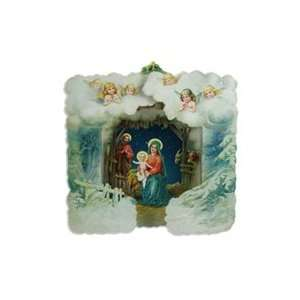 3D Standing Religious Nativity Scene Christmas Card
