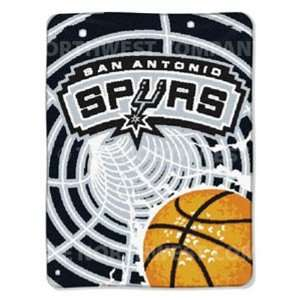 NBA 60 x 80 Super Plush Throw   San Antonio Spurs Sports