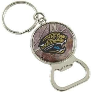 NFL Jacksonville Jaguars Real Tree Camo Bottle Opener Keychain: