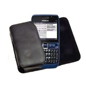 Side Pouch Case with Belt Loop for Nokia E63   Black Electronics