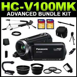 Panasonic HC V100MK Black 1/5.8 MOS 2.7 LCD 34X Optical