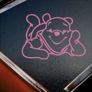 Winnie The Pooh Pink Decal Car Truck Bumper Window Pink